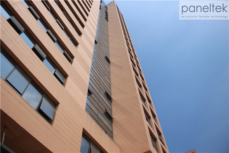18mm 30mm 20mm Thick Terracotta Cladding Building Facade , Exterior Cladding Materials