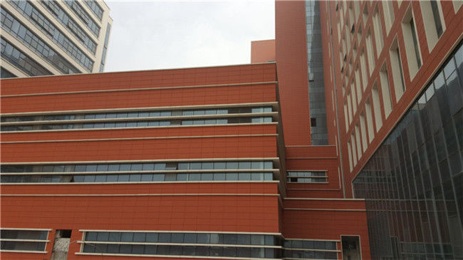 Custom Terracotta Cladding Modern Building Facade Materials With High Strength